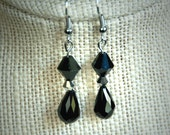 Elegant Black Dangle Earrings