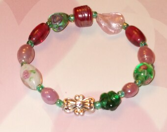 Lampworked glass bracelet