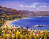 Santa Barbara Painting in Giclee Prints. Santa Barbara art. Gallery Wrap Canvas and more.