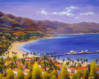 Santa Barbara Painting in Giclee Prints. Santa Barbara art. Gallery Wrap Canvas and more.