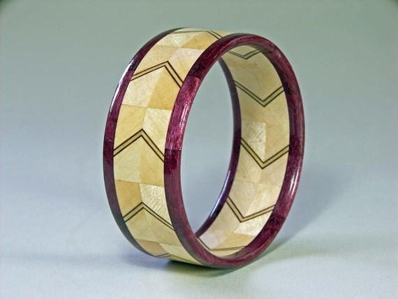 items similar to wood bangle bracelet woodturning made of