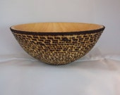 Ash Bowl with pyrography