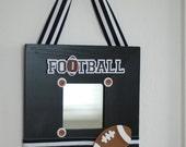 Football themed wall hanging decor frame