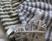 Made to order - hand knitted, striped baby hats