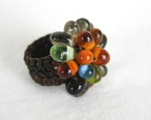 Handmade Ring by Glass Pearl in Colorful Motivate