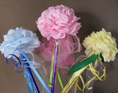 Paper Flower Wands- Assorted 10 pack NEW COLORS