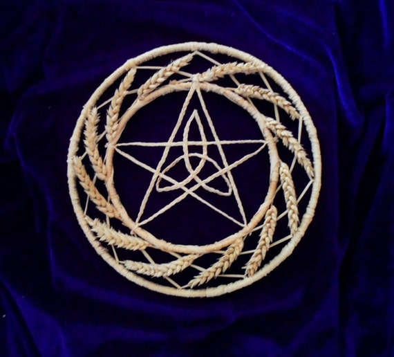 Wiccan Wedding Altar: Items Similar To Thanksgiving Wheat Pentagram Celtic
