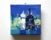 Bottles - Original Oil Painting - 8.0 cm x 8.0 cm