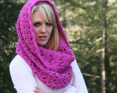 Fuchsia Pink  Chunky Cowl Scarf Snood / Autumn / Winter Fashion Accessories