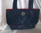ON SALE NOW..Multi Colored Splash Stylish HandMade Tote Purse..Lunches, Snacks, Crafts, Shopping, Shoe Bag, Gym & Dance Bag, Beach Bag