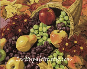 Still life painting 8x10 print from original oil painting. art home decor earthspalette