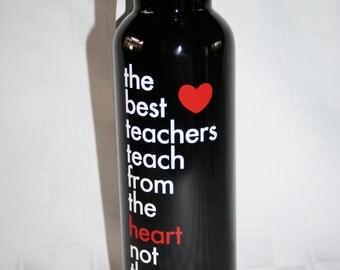 Teacher Appreciation -- Personalized Water Bottles