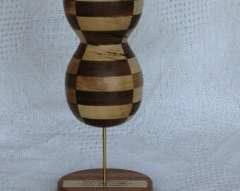 wood sculpture of 2nd-order spherical harmonic