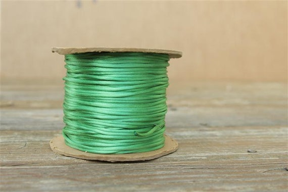 10 Yards Green Satin Rattail Cord - Satincord - Opening SALE - 3mm - 1/8 inches Wide