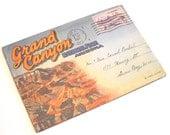 Vintage Souvenier Postcard Booklet - Grand Canyon, Arizona Postmarked 1950