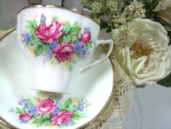 Teacup and Saucer by Jason of England Bone China Vintage