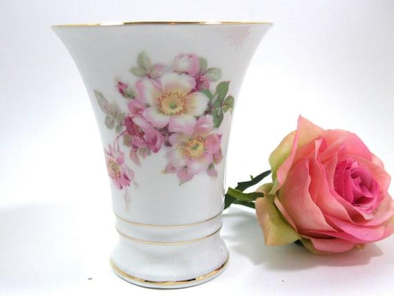 Vintage Bavarian Vase by Schumann Arzberg in the Wild Rose Pattern