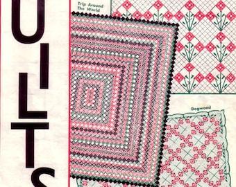 Quilts 14 Quilt Patterns No. 3624 Aunt Martha's Studios