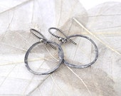 chic sterling silver textured earrings