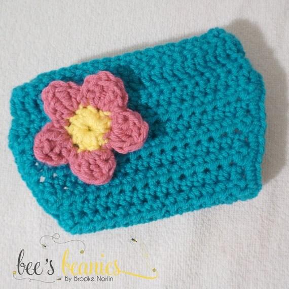 Crochet A Flowers Diaper Cover Pattern : Newborn Crochet Diaper Cover with Flower by BeesBoutiqueND ...