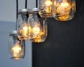 Straightwing Mason Jar Steel Canopy Light