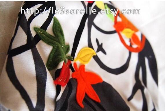 Bike Handlebar Handbag - Cotton & Convertible - Citrus Fall