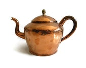 Vintage copper tea kettle teapot