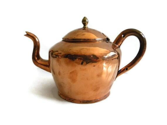 Vintage copper tea kettle teapot