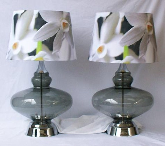 RESERVED Hand Blown Vintage Italian Glass Lamps