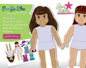 Stacy and Stella printable magnetic dolls