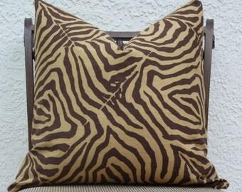 """Throw Pillow Cover - 20"""" X 20"""" - Pillow Cover - Animal Print Brown/Tan - Accent Pillow - Throw Pillow"""