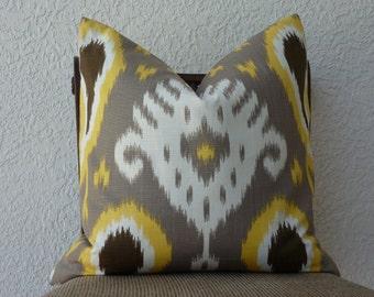 Decorative Pillow Cover - Accent Pillow - Throw Pillow - Home Decor Designer Fabric - SAME Both Sides - Ikat