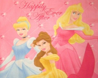 CLEARANCE Disney Princess Cinderella Belle Aurora Happily Ever After Fleece Panel Throw Blanket Soft Warm Wall Hanging