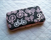 Baby Wipes Case- pink bicycles from Michael Miller