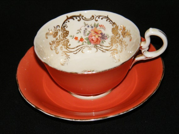 Aynsley Teacup and Saucer bouquet and gold circa 1920s