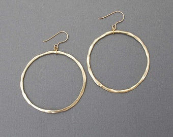 Classic Gold or Silver Hoop Earrings