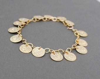 Gold Vintage Coin Bracelet