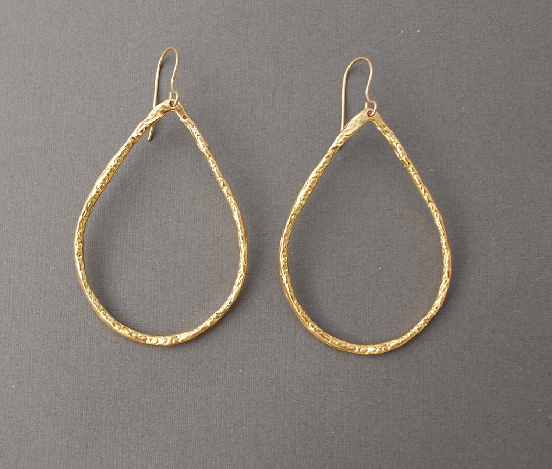 small gold teardrop hoop earrings also in silver. Black Bedroom Furniture Sets. Home Design Ideas