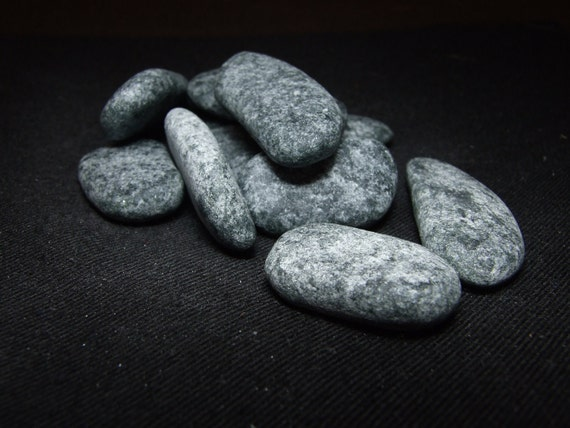 Set of 9 River Rock Shaped Whiskey Stones from Polar Stones - FREE GIFT BOX with Purchase