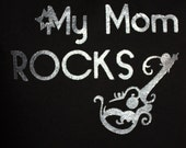 "Children's Custom hand painted ""My Mom Rocks"" T-shirt"