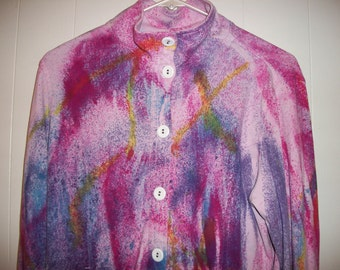 Hand-dyed knit jacket, size M