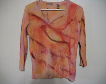 Hand-dyed sweater, size M