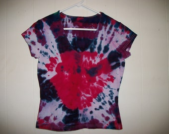 Tiedye v-neck tee shirt