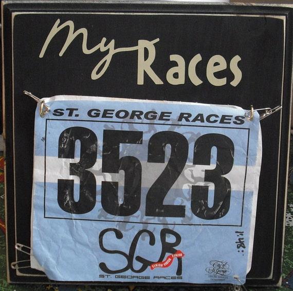 Marathon/ Half Marathon/ Tri Race Bib Hanger