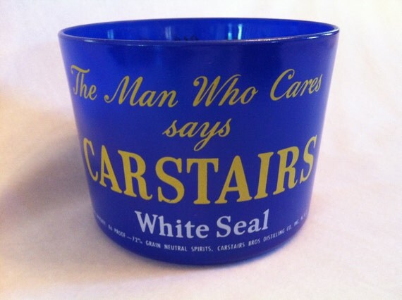 Vintage Carstairs White Seal Glass Ice Bucket c 1940