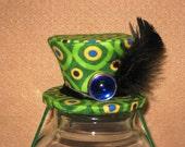Blue Daze Mini top hat fascinator- Unisex