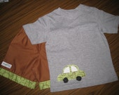 Cute Car Boys Shorts and Shirt Set Size 3 Fit 36 months