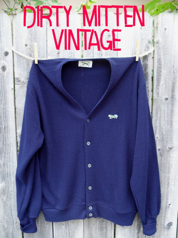 SALE Vintage Mens Cardigan JCPenney The Fox Sweater