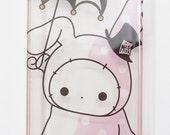 iPhone 4 Kawaii Cute Pink Magic Bunny Rabbit Design Sanrio Clear Crystal Hard Case Cover