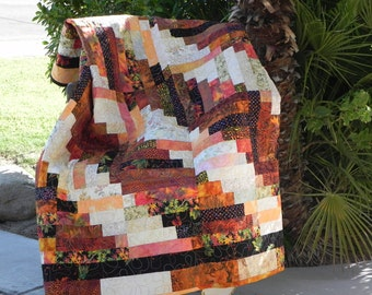 Cozy Earth Tones Lap Quilt